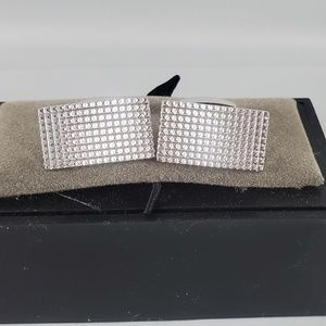Jos. A. Bank silver tone rectangular textured cuff